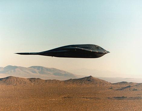B2 Stealth bomber over the desert