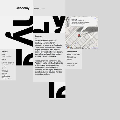 Academy website