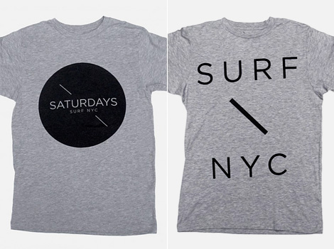 Saturdays Surf NYC t-shirts