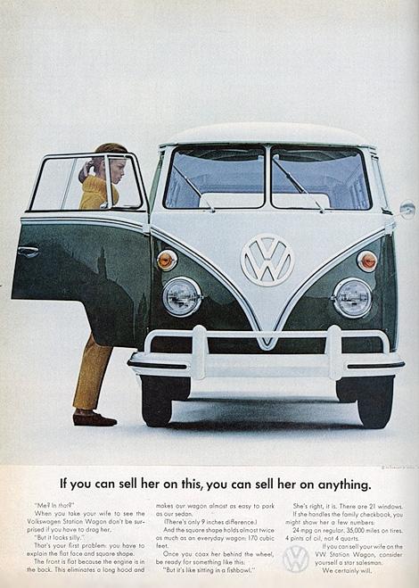 Vintage VW Bus ad