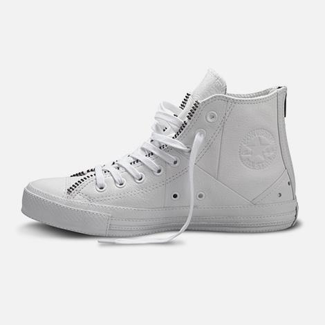 Schott x Converse White Leather Jacket Chucks