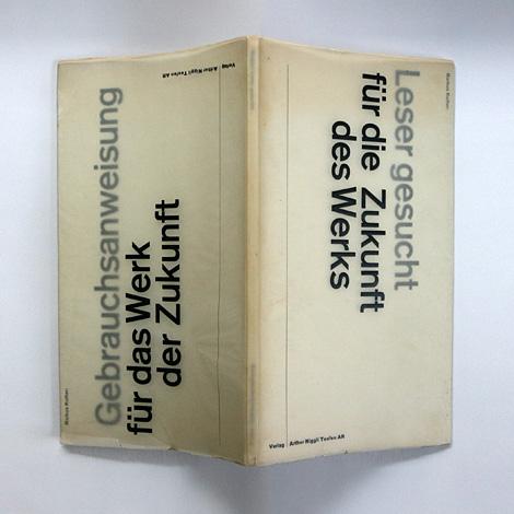 Karl Gerstner: Leser Gesucht