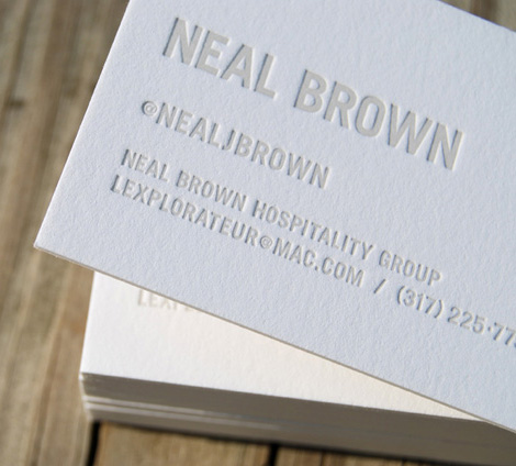 Neal Brown business card