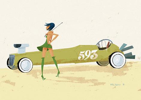 Simone Massoni: Chicks & Wheels