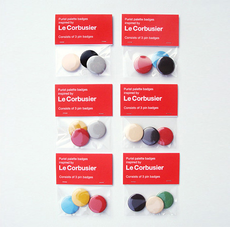 Le Corbusier button badges