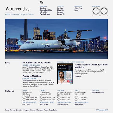 Winkreative website
