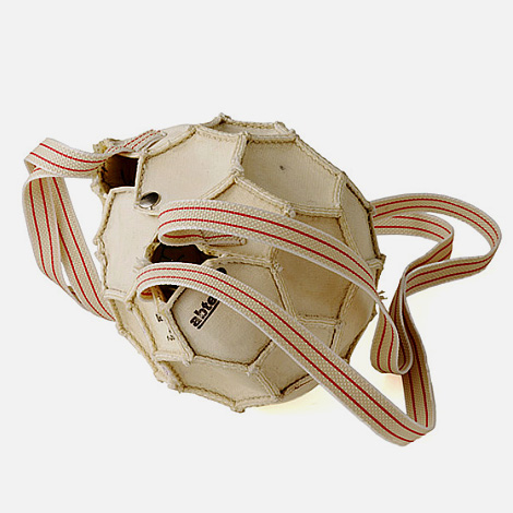Upcycled soccer ball bag