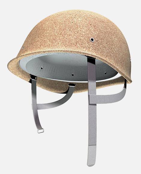 Cork bicycle helmet