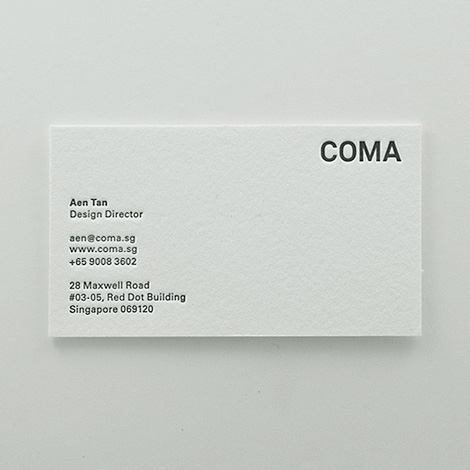 COMA business card