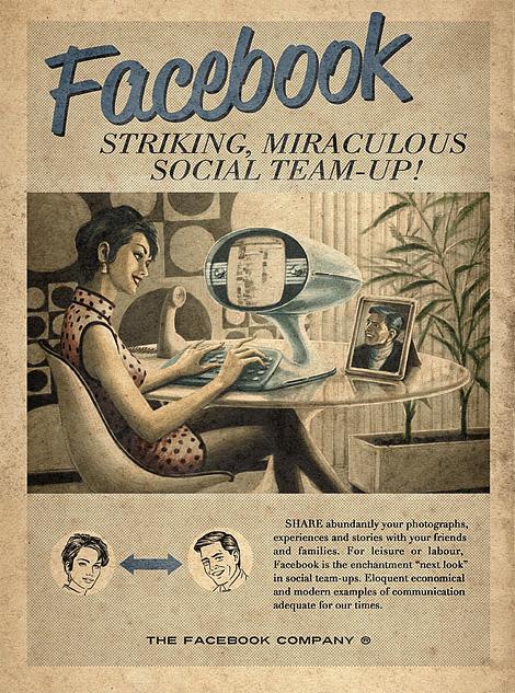 Vintage Facebook, Skype & YouTube posters