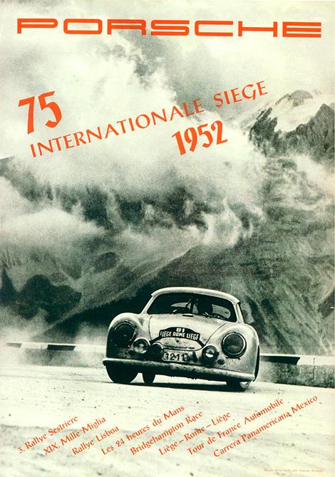 Vintage Porsche racing poster