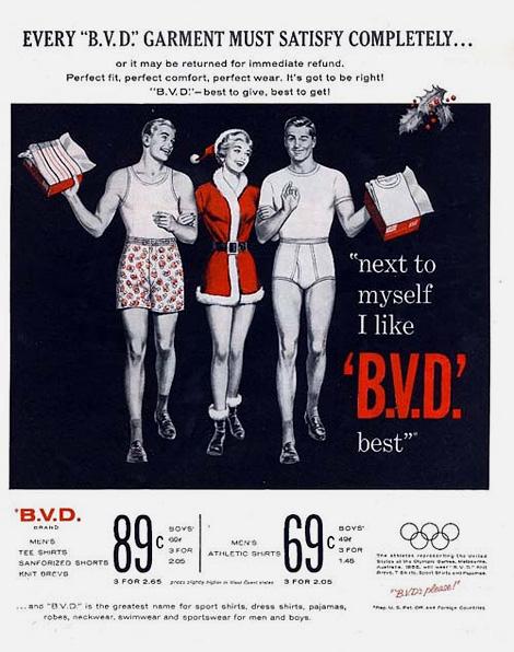 B.V.D. Christmas ad