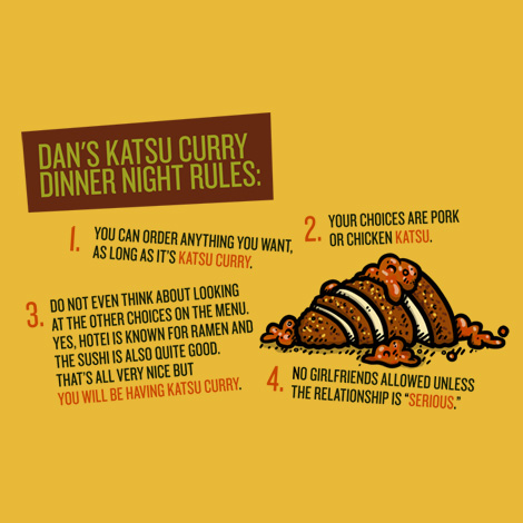 Katsu curry dinner night rules