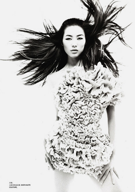 Liu Wen for Numéro China by Tiziano Magni