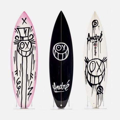 André x Quiksilver surfboards