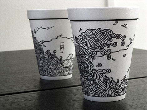 Coffee cup drawings Iain Claridge | Coffee cup drawing