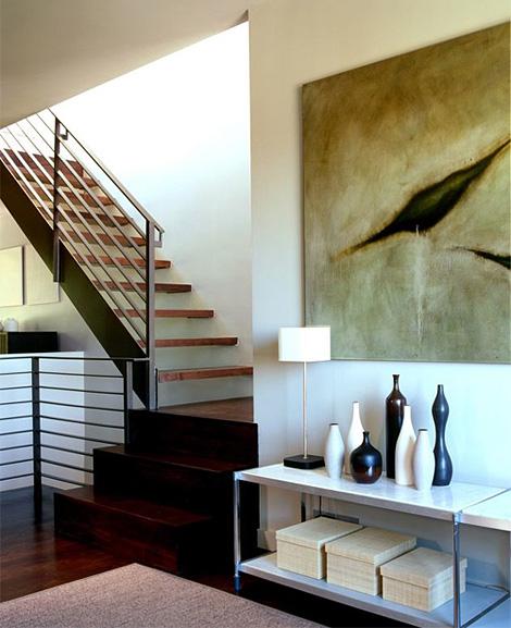 Warm modernist interior