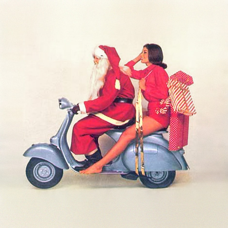 Christmas Vespa