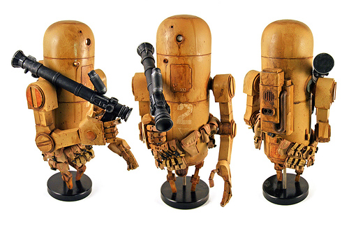 Ashley Wood – Bertie the Pipebot toy