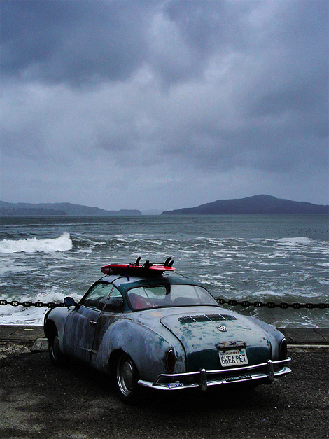 Karmann Ghia + Surfboard