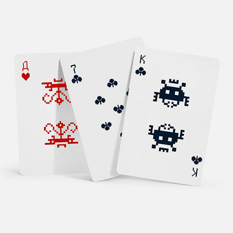 Space Invaders 8-bit playing cards