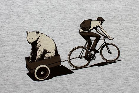 Adams Carvalho: Bear Bike t-shirt