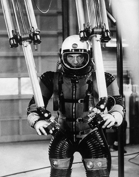Pressure suit test, c1955. Photo: NASA.