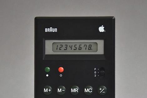 Apple logo Braun ET55 calculator