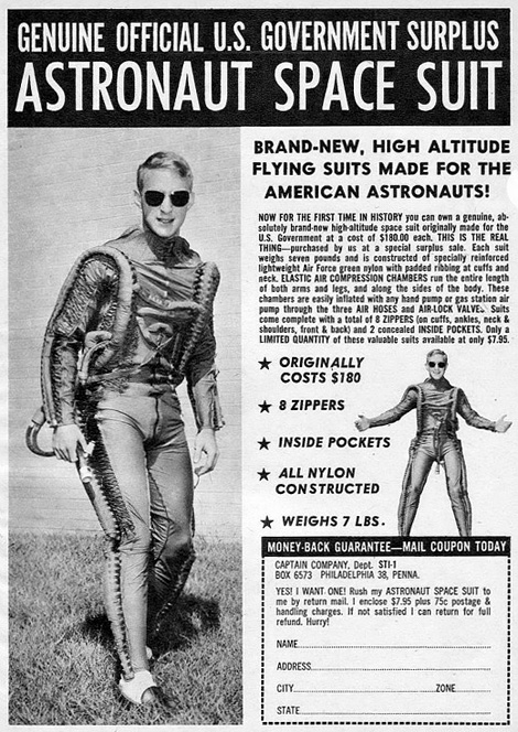U.S. Gov surplus space suit ad