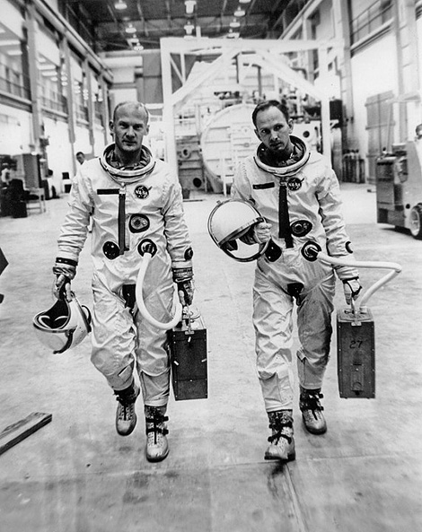 Buzz Aldrin and Ted Freeman