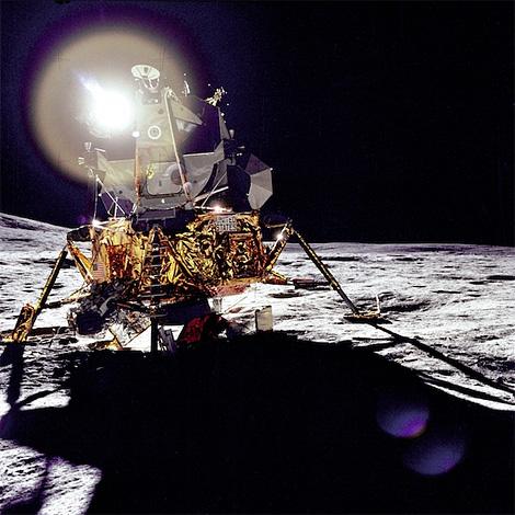 View of Apollo 14 Lunar Module on the Moon