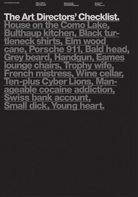 Art Directors' Checklist