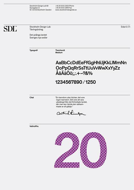 Stockholm Design Lab proposal for new money