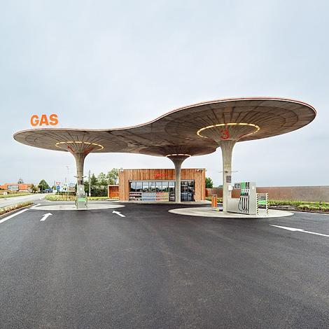 Slovakia Gas Station