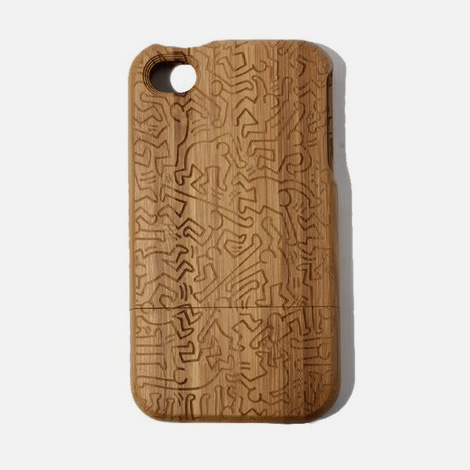 Keith Haring x COLORS TOKYO bamboo iPhone case