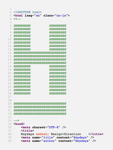 Heydays ASCII logo