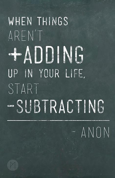 start subtracting