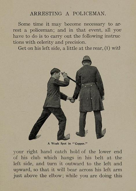 Arresting a policeman
