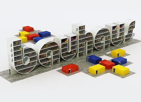 Bauhaus 3d type