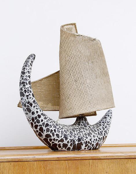 Le Vaucour Vallouris Ceramic Boat Lamp