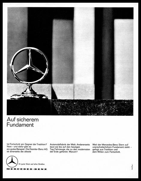 Mercedes Benz ad c.1963