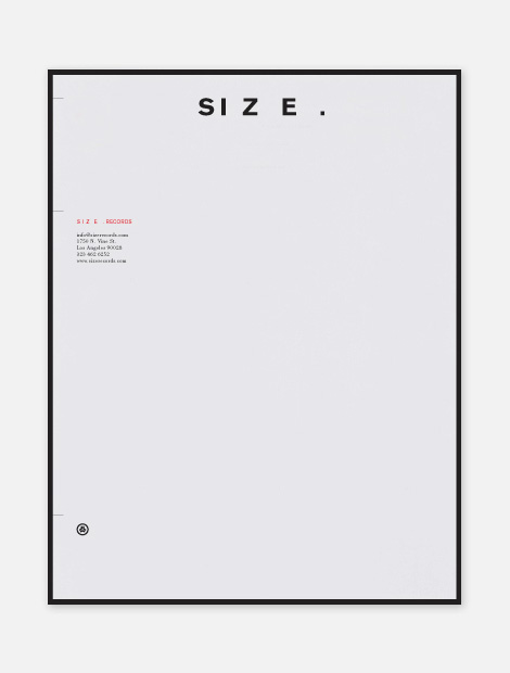 SIZE Records identity
