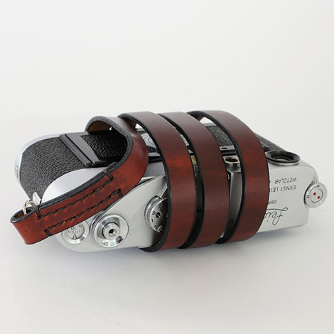 Fixed leather camera strap