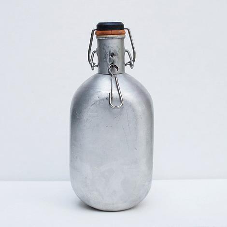 Vintage aluminium water bottle