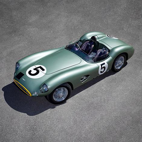 1:1 scale Aston Martin DBR1 model
