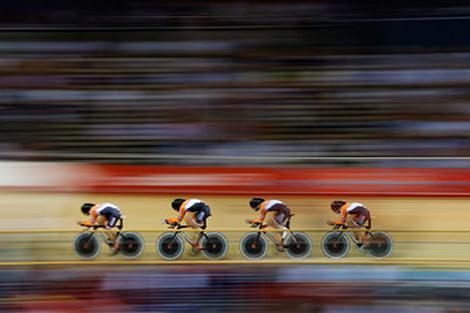 London 2012 Velodrome action