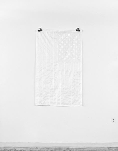 All white American flag