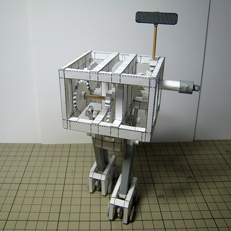 Mechanical Paper Model: Paper Biped Robot