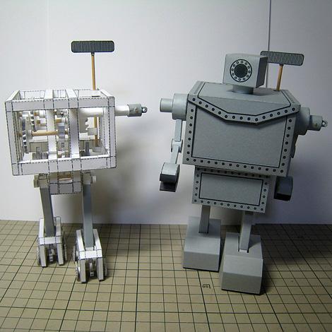Mechanical Paper Model: Paper Biped Robot