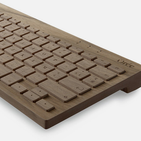 Orée wooden keyboard